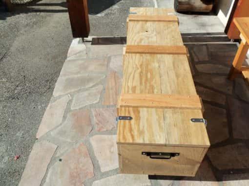 caisse de transport en bois