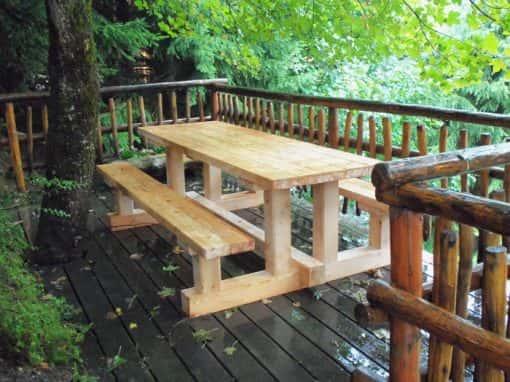 table banc montagnarde