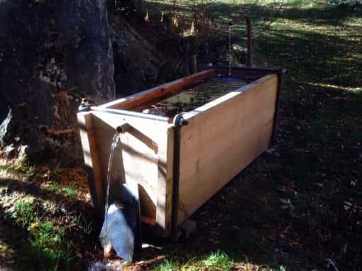 bachal en bois bassin en bois