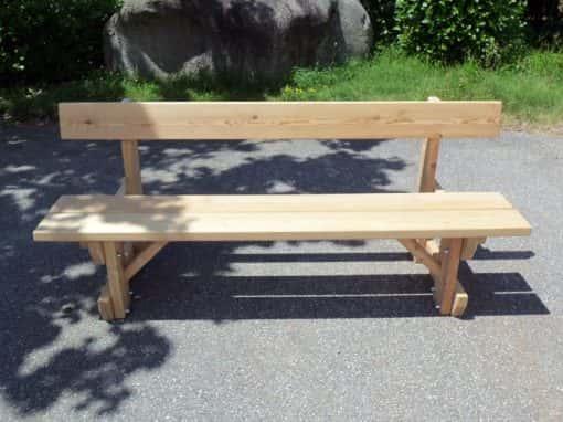banc en bois mélèze avec dossier