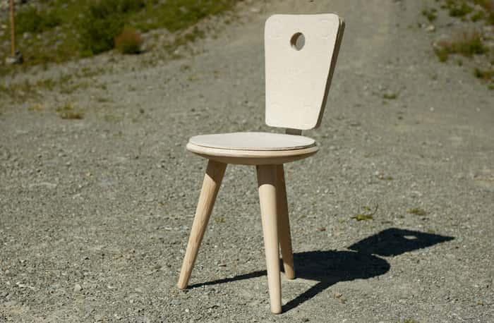 chaise tripode mobilier d 39 ext rieur en m l ze monin bois sas. Black Bedroom Furniture Sets. Home Design Ideas