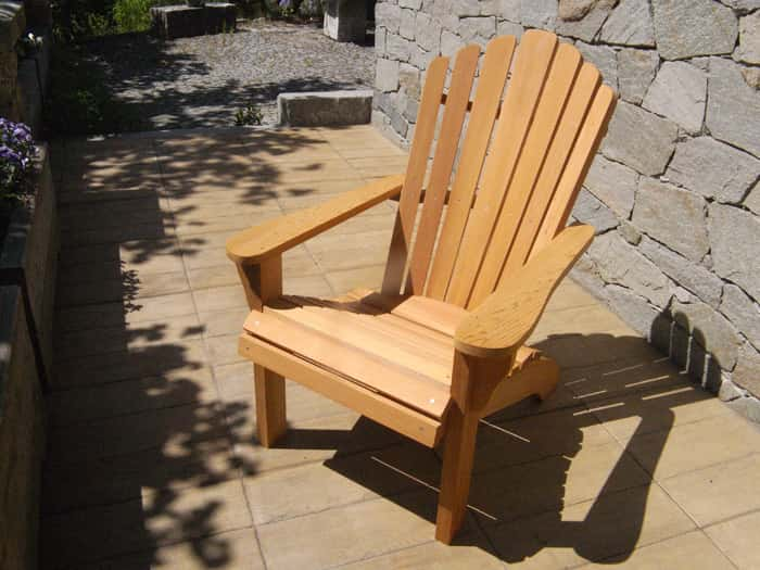 fauteuil adirondack bois mobilier d 39 ext rieur en m l ze. Black Bedroom Furniture Sets. Home Design Ideas