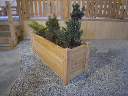 jardinière en bois, bac à fleurs en bois