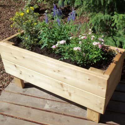 jardinière en bois bac à fleurs
