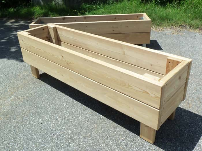 jardini re bac en bois mobilier d 39 ext rieur en m l ze. Black Bedroom Furniture Sets. Home Design Ideas