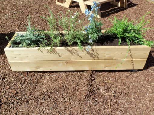jardinière bois bac à fleurs bois
