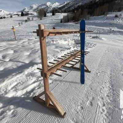 ratelier rack skis bois mélèze