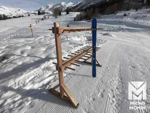 ratelier rack skis bois mélèze