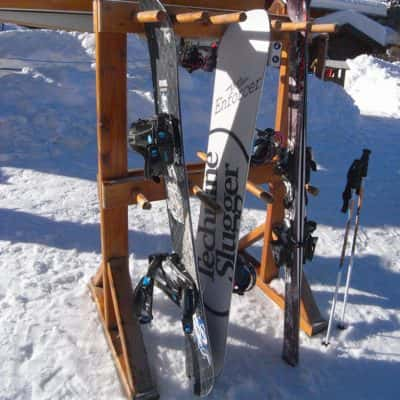 râtelier à skis bois rack à skis bois porte skis bois