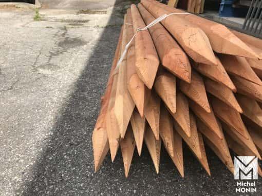 rondins appointés mélèze pointe bois rond