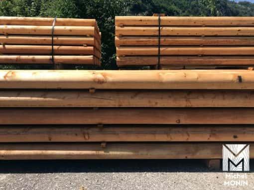 rondins bois mélèze
