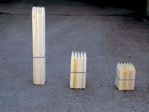 piquets et tuteurs bois chantier Savoie Tarentaise