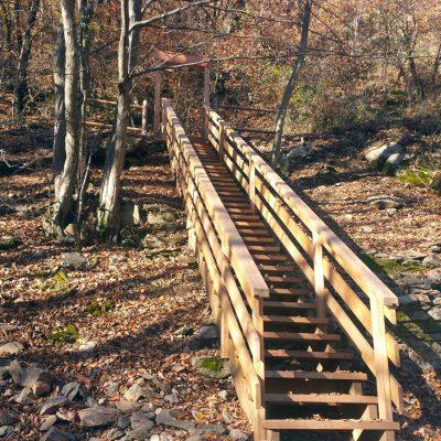 escalier extérieur bois mélèze rambarde