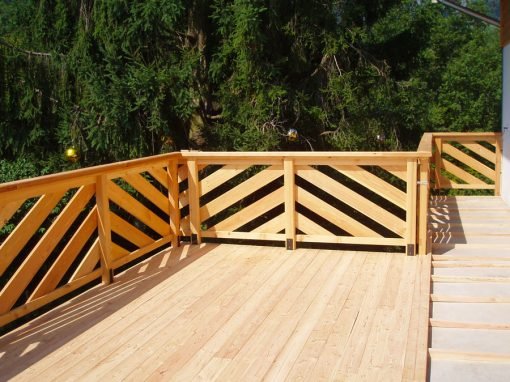balcon terrasse bois