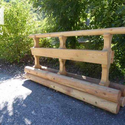 séparateur de voie en bois