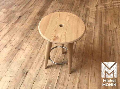 tabouret haut en bois