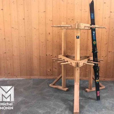 ratelier skis bois extérieur