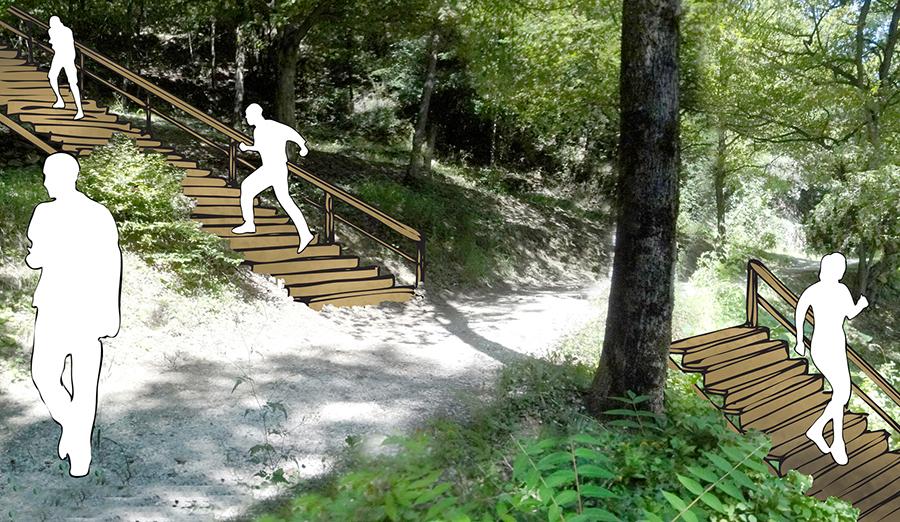 escalier stepper bois