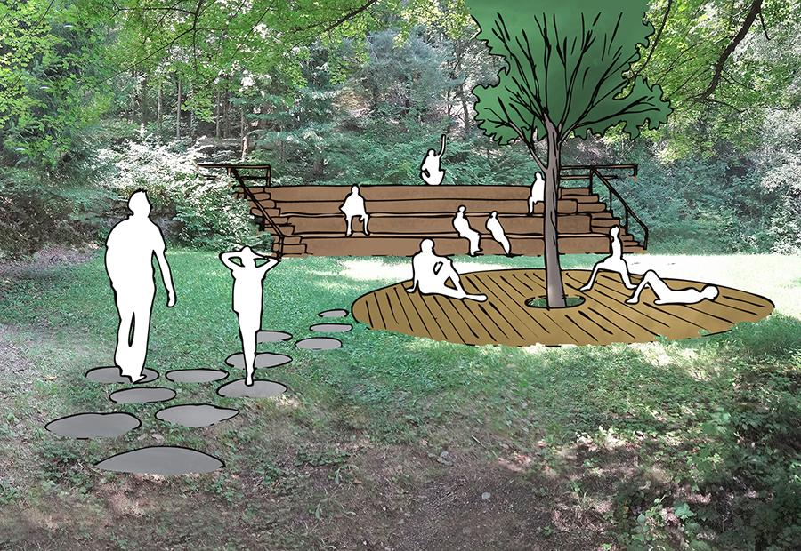 theatre de verdure la Léchère projet