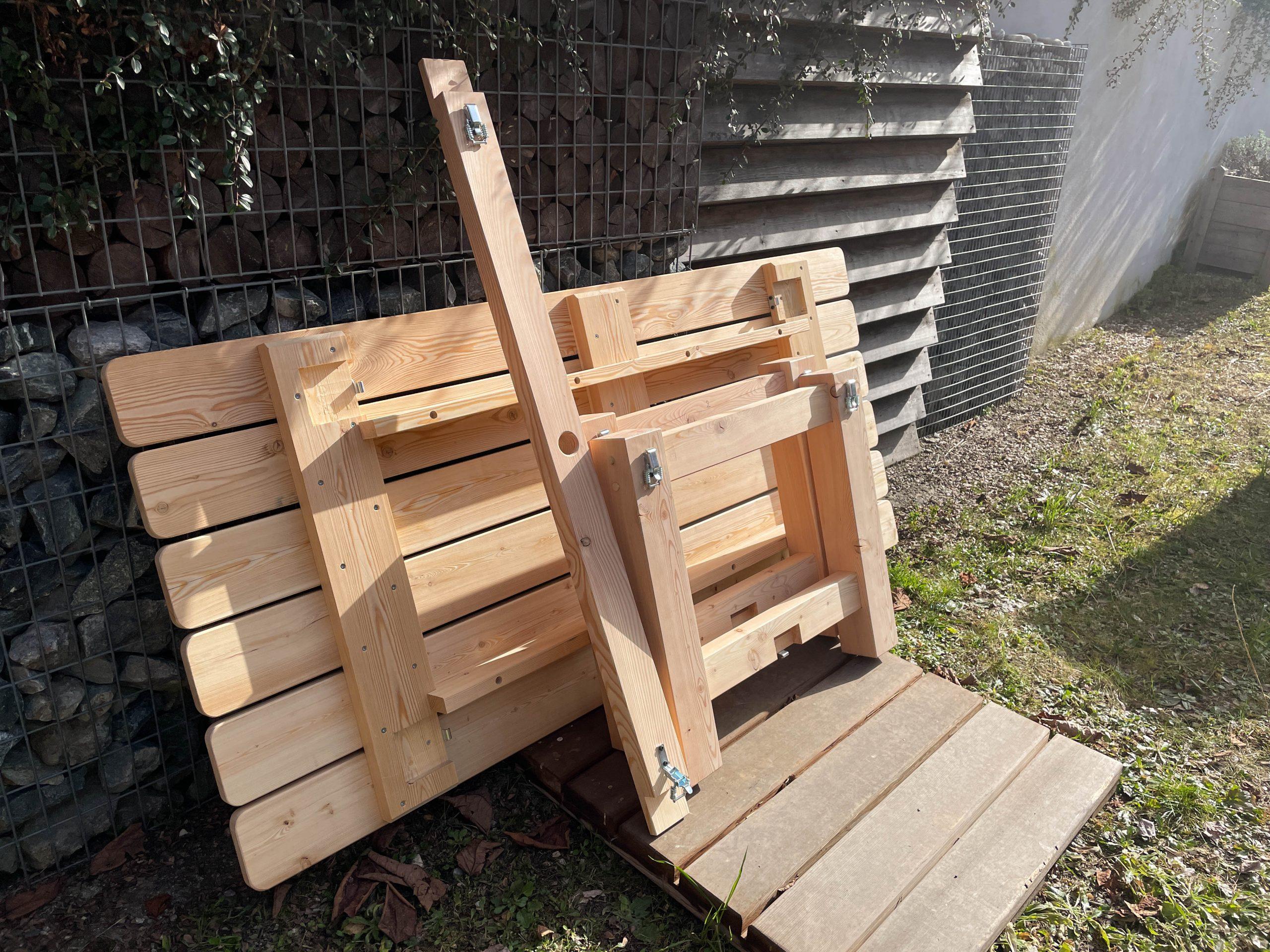 table mélèze démontable michel monin bois