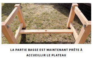 etape de montage table bois massif meleze