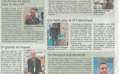 Notre râtelier à vélos électriques dans la presse !